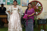 Pretty ladies in traditional costumes