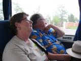 The wonderful scenery didn't keep Bev & Gord awake though!