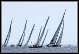 Los veleros llegan a la boya de barlovento