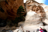 Tent Rocks through the slot canyon trail III