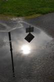 Sitka street reflection