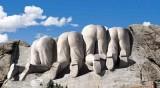 Mount Rushmore from back