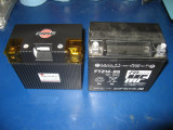 Shorai 21 amp/hour next to OEM 14 amp/hour Concours battery