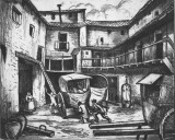 Posada at Lorca, etching. Author's collection.