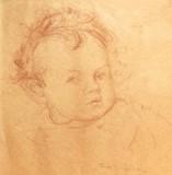 WDA as a baby, Christmas 1918, by Cora Gordon