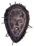 Vuvi Muhunzu mask. Height, 30 cm. Massif du Chaillu, South Central Gabon.