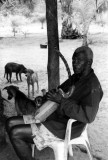 Citharist at a small river-side village, Ogooué Delta. 29/9/96.