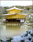 The Golden Pavilion in the snow - Kyoto