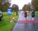There were mats like this all along the course for split times