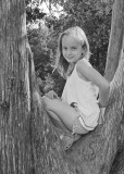 GRANDDAUGHTER KATIE - CADE'S COVE - ORIGINAL COLOR IMAGE CONVERTED TO B&W