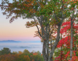 FALL SUNRISE OVER THE MILLS RIVER VALLEY  -  AN HDR IMAGE