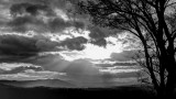 WESTERN NORTH CAROLINA SUNSET  -  B&W HIGH DYNAMIC RANGE IMAGE