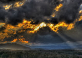 OMINOUS CLOUDS AT SUNSET  -  ISO 80  - A HIGH DYNAMIC RANGE IMAGE