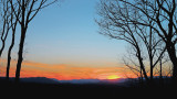 FEBRUARY SUNSET IN WESTERN NORTH CAROLINA  -  HDR IMAGE