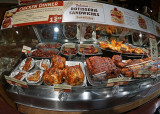 MEAT COUNTER AT THE FRESH MARKET GROCERY  -  SONY 16mm f/2.8 LENS WITH MATCHING SONY FISHEYE CONVERTER  -  ISO 1600