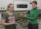 BAKING COOKIES FOR SAINT PATRICK'S DAY  -  SONY/ZEISS 24mm f/1.8 LENS  -  SONY HVL-F58AM FLASH