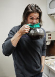 DUSTIN, IN SERIOUS NEED OF A CAFFEINE HIT!