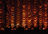 THE CHORUS' VIEW DURING THE SHOW, WHEN THE MIDDLE CURTAIN IS DOWN