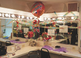 TO CELEBRATE MOLLY'S BIRTHDAY, THE LADIES EVEN DECORATED THEIR DRESSING ROOM