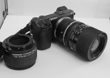 NEX-7 WITH A TAMRON SP 90mm f/2.5 LENS (MODEL 52B)  -  SHOWN WITHOUT  LENS HOOD AND SHOWING THE TAMRON EXTENSION TUBE