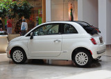 FIAT 500C LOUNGE CABRIO  -  IN THE SOUTH PART SHOPPING CENTER, CHARLOTTE, NORTH CAROLINA
