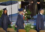 MY GRANDDAUGHTER'S FRIEND, SARAH, GOING UP TO RECEIVE HER HIGH SCHOOL DIPLOMA  -  ISO 400