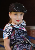 GRANDDAUGHTER KATIE, DOING HER MODEL ROUTINE  -  TAKEN WITH A SONY 50mm F/1.8 E-MOUNT LENS