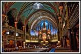 l'intérieur de la cathédrale Notre-Dame de Montréal