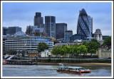 A View Along the Thames at Dusk