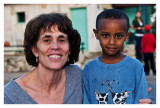 Phyllis with an Ethiopian Child