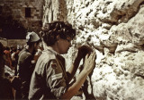 1967--at Wailing Wall, Jerusalem