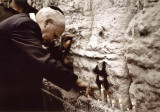 david ben gurion, at Wailing Wall, jerusalem