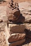 a rock cairn