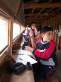 Niños invitados a Riet Vell para realizar actividades. Estos niños proceden del Sahara Español.