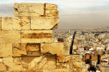 View of modern Athens from Erechtheon