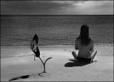 Kat on the beach