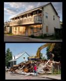 Démolition de la maison de la rue Marsan