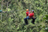 On the zip line together