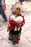 Cute kid in Pisac will pose for money