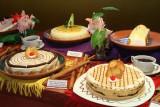 Nice desserts in the restaurant