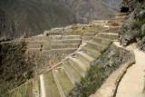 Ollantaytambo from the Inca trail