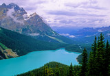 Peyto Lake and Mistaya Mountain, Banff National Park, Alberta, Canada