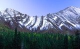 Folds in the Canadian Rockies, Peter Lougheed Provincial Park, Alberta, Canada