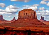 Merrick Butte from John Ford Point, Monument Valley, Navajo Tribal Park, UT/AZ