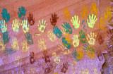 Anasazi hand prints, AZ