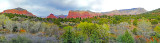 Panorama of Bell Rock and the Court House, Sedona, AZ