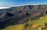 Haleakala cinder cones with shield cones in the distance, Maui HI