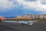 Ted taxis for takeoff at Sedona Airport