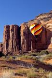 Rising Balloon, Monument Valley, Navajo Tribal Park, AZ/UT