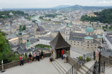 Stepping out of the Salzburg Castle